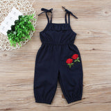 Baby Girls Strap Flower Outfit Clothes-Shopper Baby