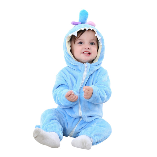 Hooded Rompers Shark Style-Shopper Baby
