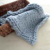 Handmade Chunky Knitted Wool Blanket-Shopper Baby