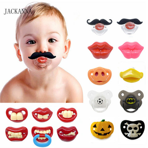 Funny Baby Pacifiers-Shopper Baby