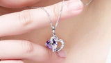 Heart Crystal Pendant Necklace Jewelry for Lover Gift-Shopper Baby