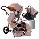Gold Baby Strollers 3in1 Baby Car Seats-Shopper Baby