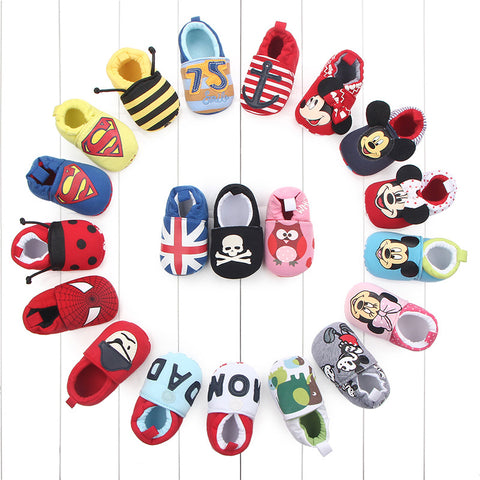 2018 New Baby Infant Superman Bee Shoes Soft 0-18M Boys Girls Casual Shoes Fashion Shoes Spring Autumn Fashion Baby First Walker-Shopper Baby