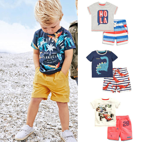 100% Cotton Summer Baby Boys Clothes Set-Shopper Baby