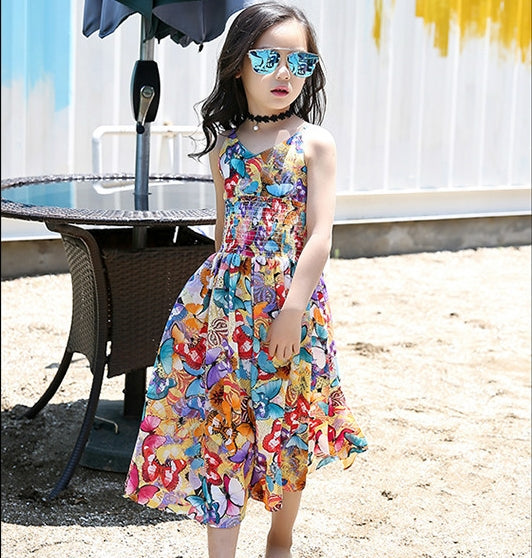 Bohemia Girls Summer Floral Party Dress-Shopper Baby