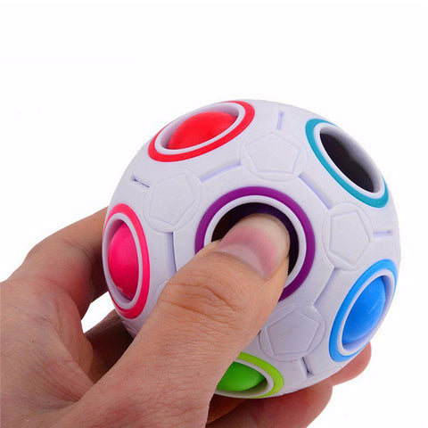 2017 Spherical 360 Cube Rainbow Ball Football Magic Cube Puzzle Educational Toys Special Twist Cubes Juguetes Educativo-Shopper Baby