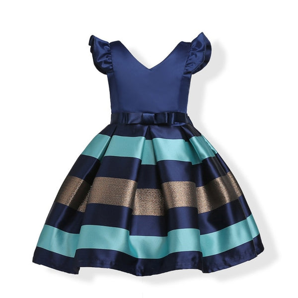 Baby Girls Striped Dress Party Dresses-Shopper Baby