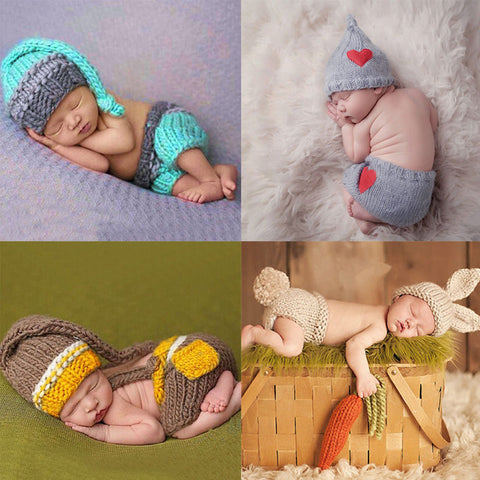 Newborn Baby Cute Crochet Knited Costume-Shopper Baby