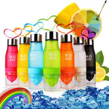 New Xmas Gift 650ml Water Bottle plastic Fruit infusion bottle Infuser Drink Outdoor Sports Juice lemon Portable Kettle-Shopper Baby