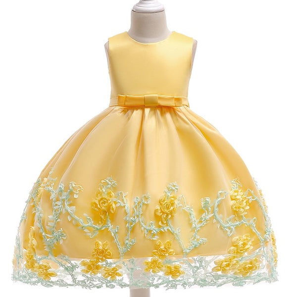 0-10 Year Sweet Flower Princess lovely Girl Dress-Shopper Baby