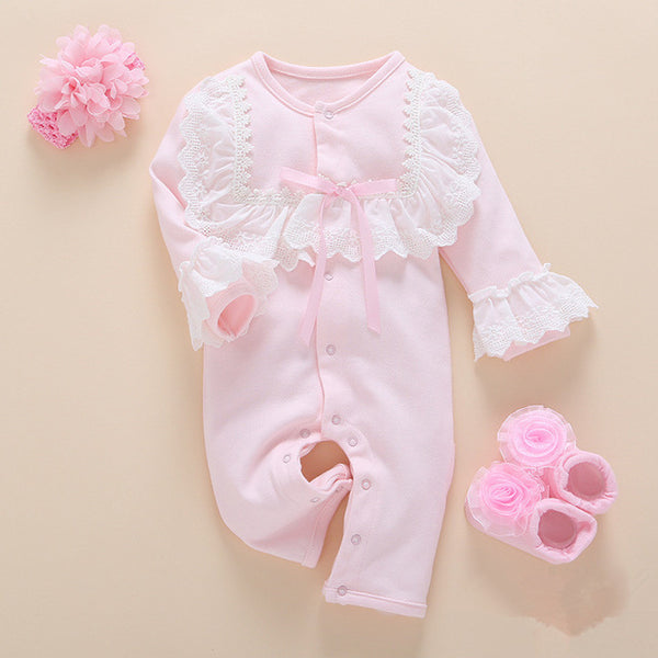 Baby Long Sleeve Romper Girls Clothes Set-Shopper Baby