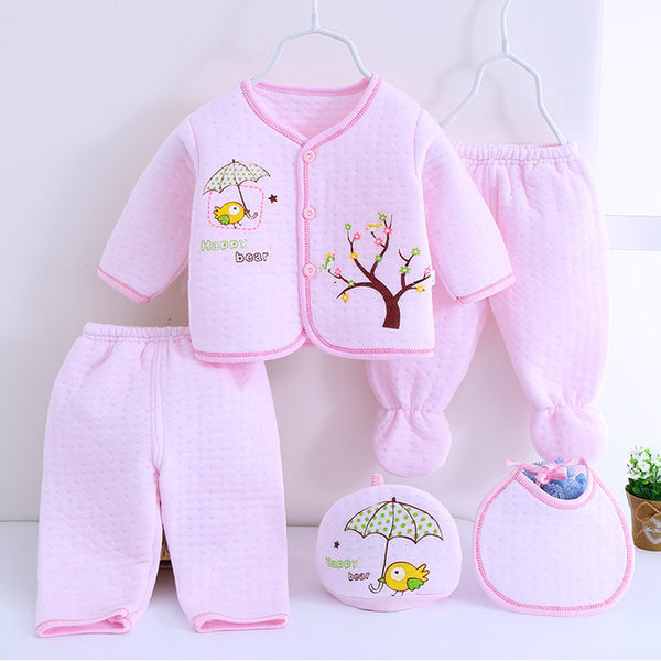 5 Pcs/set newborn Baby girl cotton pajamas 0-3-Shopper Baby