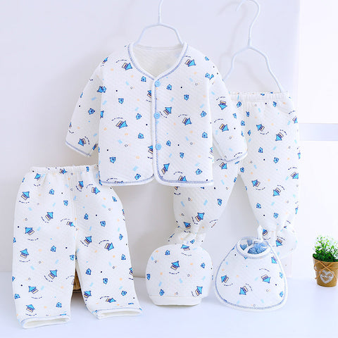 5 Pcs Baby Newborn Pajama Clothes Set-Shopper Baby