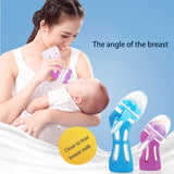 Baby Glass Anti-drop Silicone Wide Caliber Temperature Control Bottle-Shopper Baby