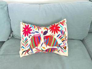 Mexico Tenango Pillow Cover; Funda Otomí