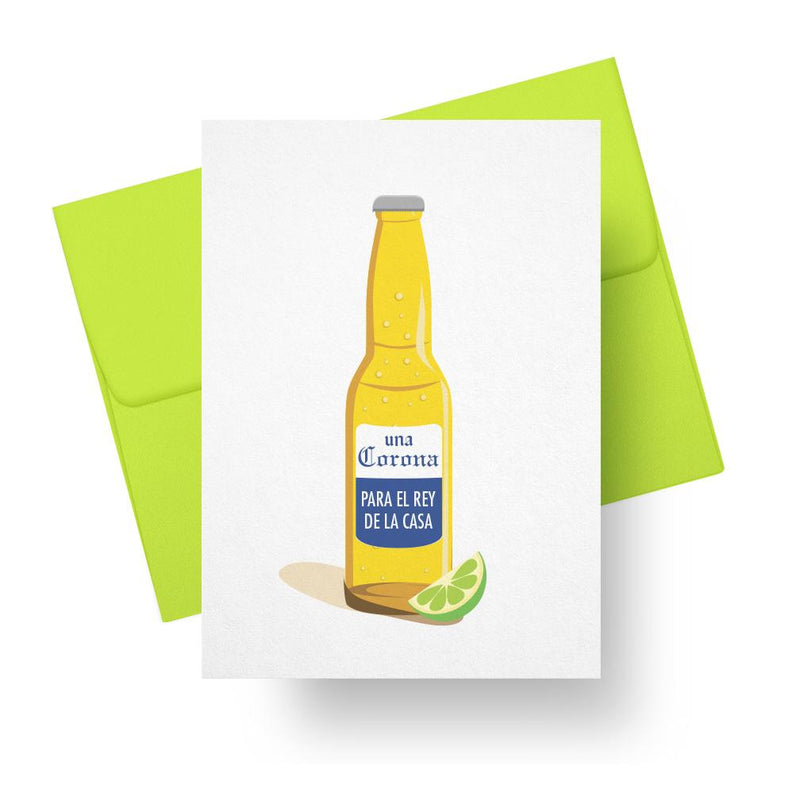 Corona Para El Rey - Spanish Fathers Day Greeting Card