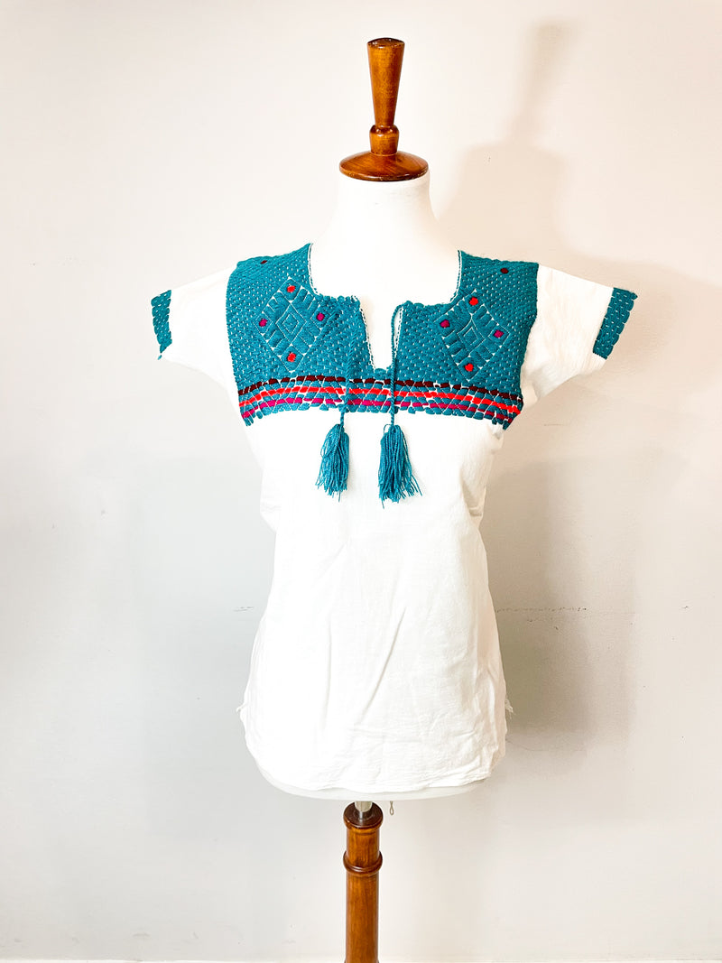 Chiapas Blouse; Mexican Top; handmade