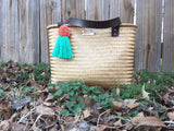 Golden Raffia Bag