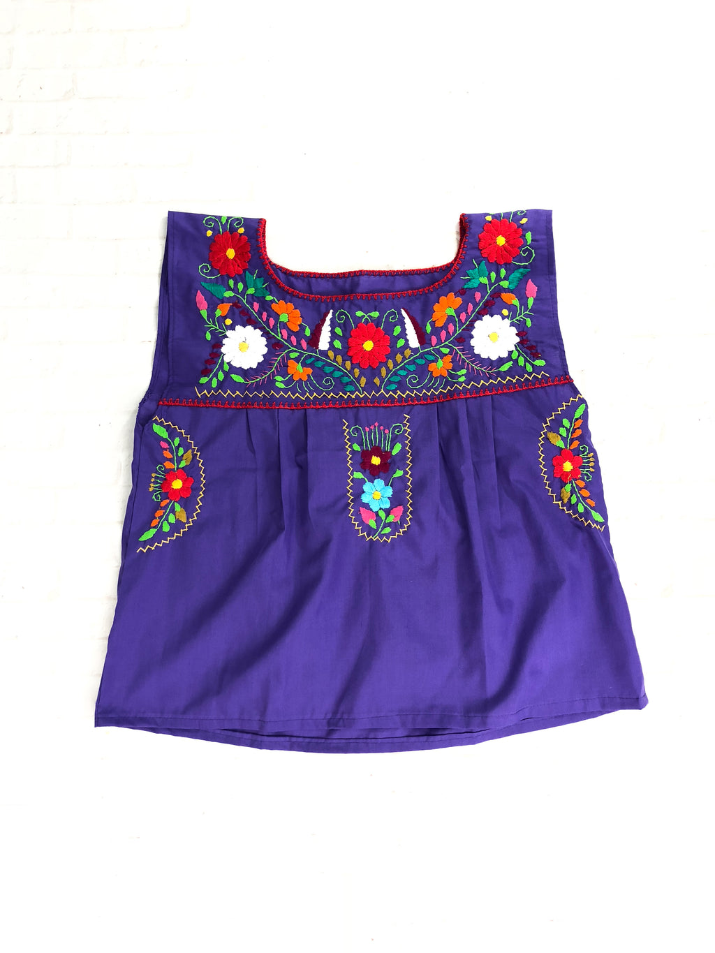 Embroidered Mexican Top (no sleeves)