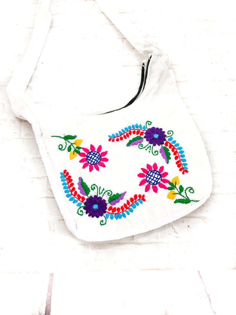 Embroidered Tehuacan Bag