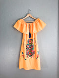 Mexican Dress Campesino (Available in Multiple Colors)