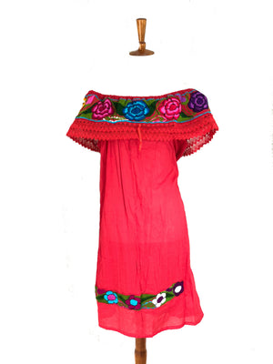 mexican dress campesino red