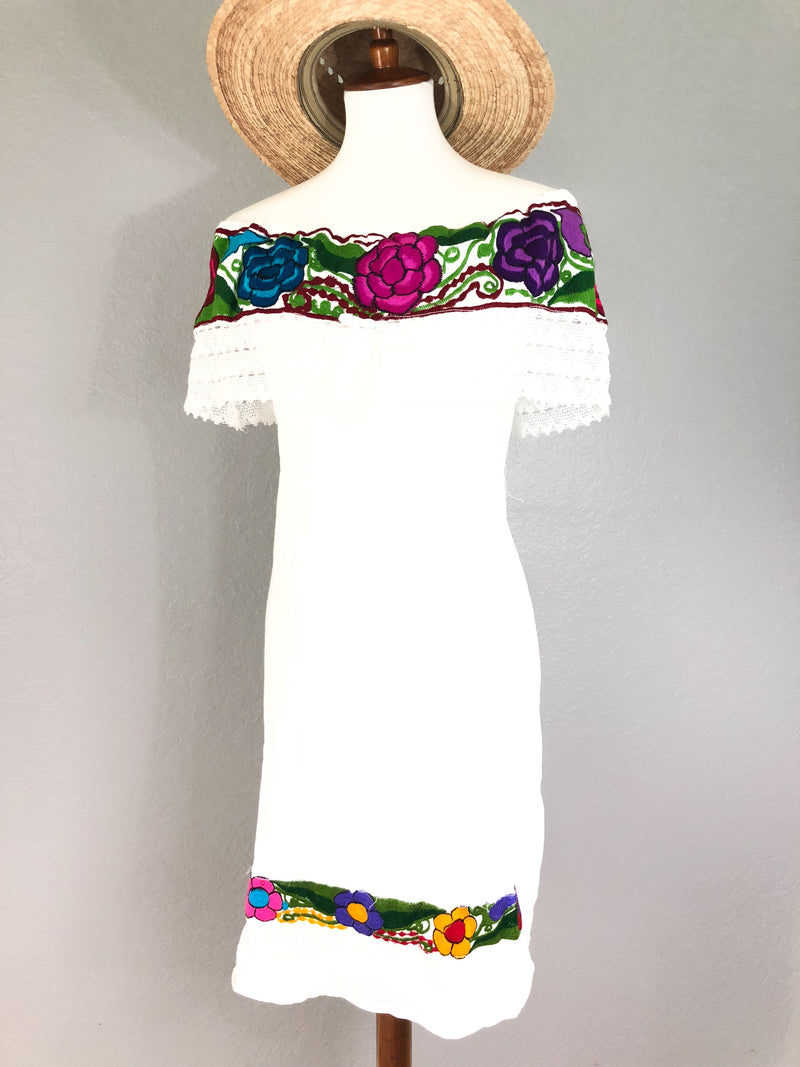 off the shoulder mexican dress