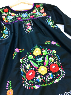 Mexican Dress; Boho Puebla Dress Long Sleeve