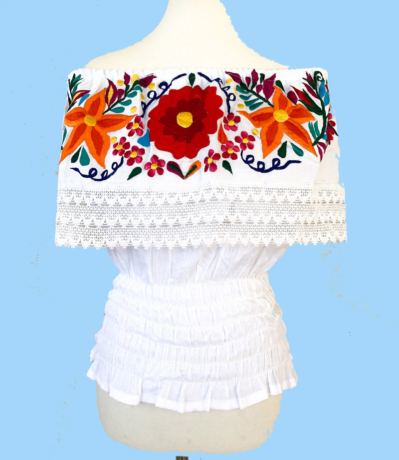 Off the Shoulder Blouse; Mexican Blouse