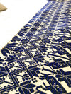 Tlaxcala Embroidered Blue Table Runner