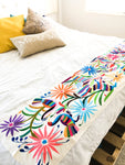 Otomi Hand Embroidered Table Runner | Tenango Colorful Runner