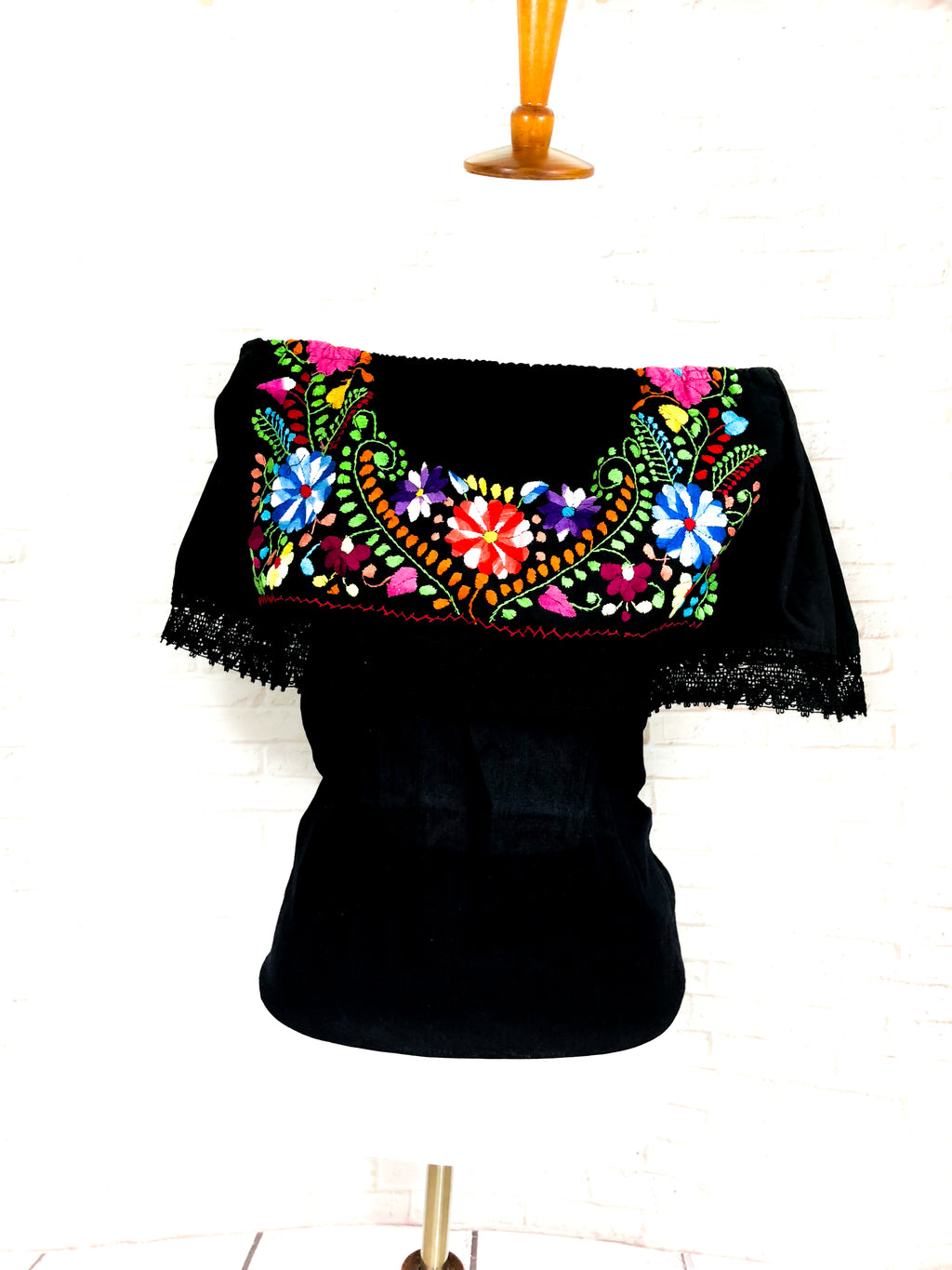 Off The Shoulder Embroidered Mexican Top