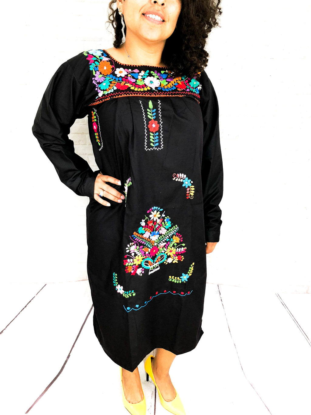 mexican dress long sleeve