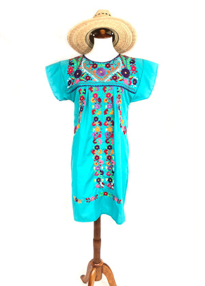 mexican dress teal