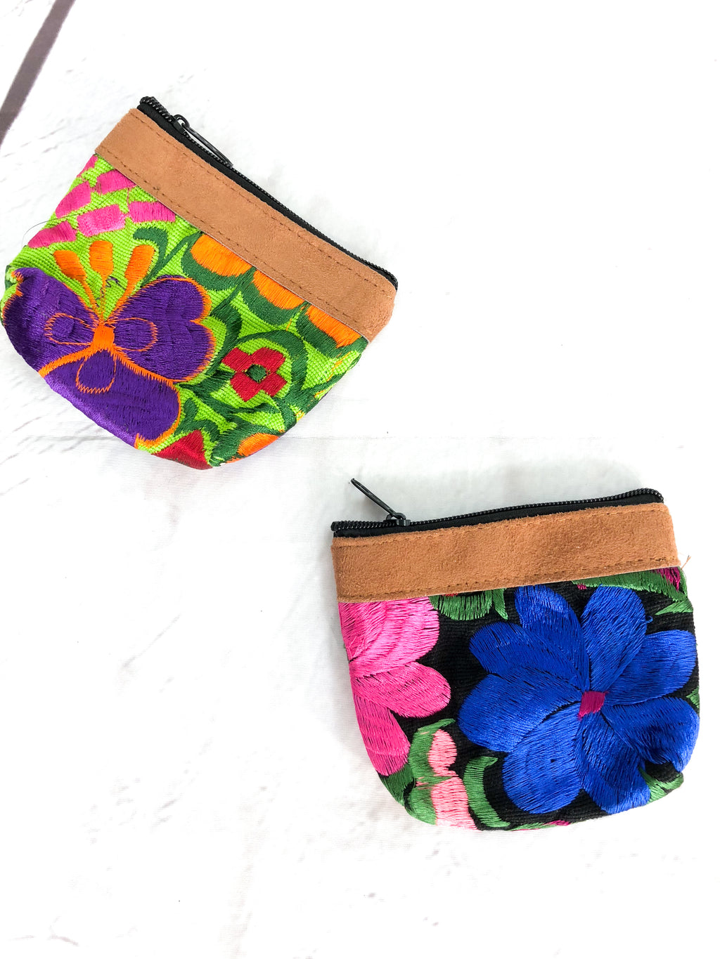 Embroidered Coin Bag