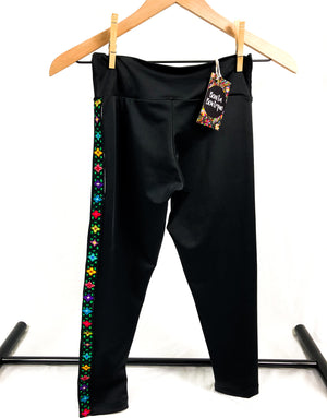 mexican embroidered leggings