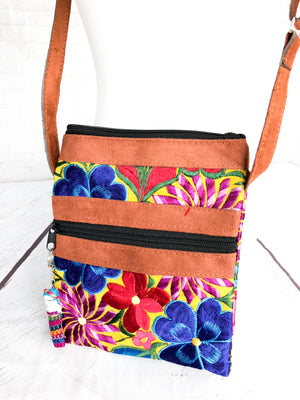 Embroidered Crossbody Bag Mariconera-wholesale