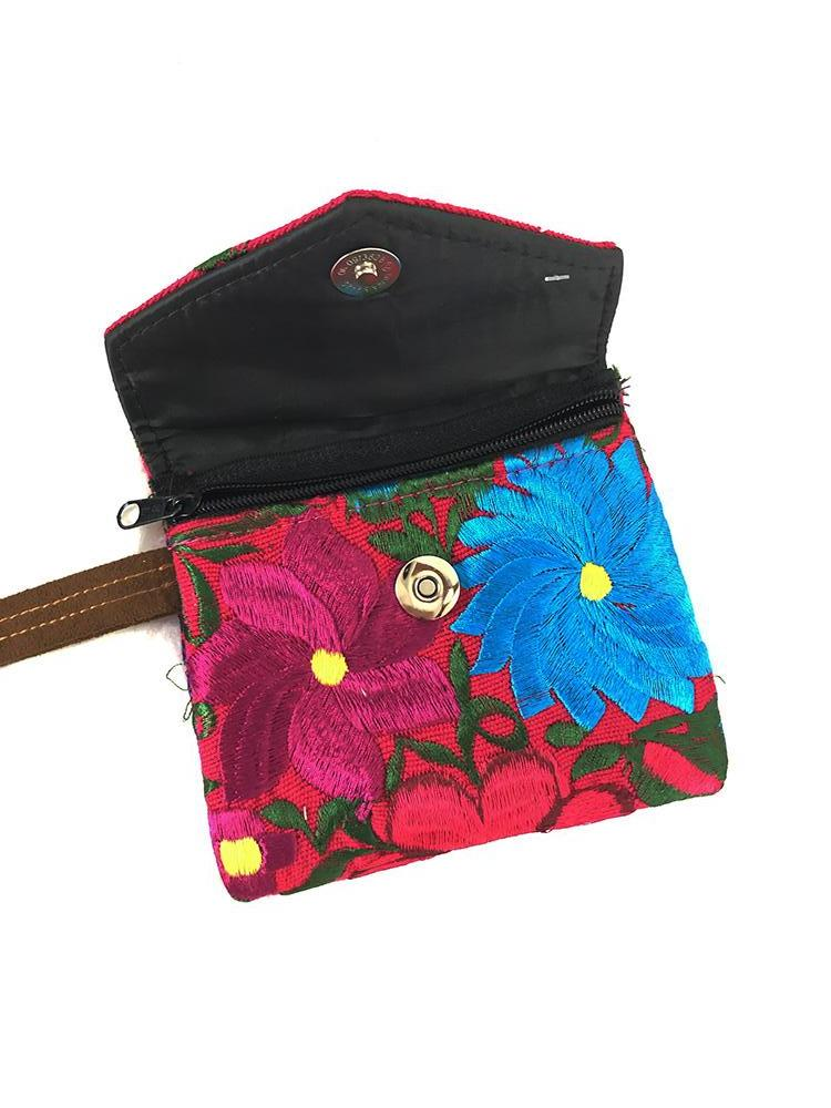 Embroidered Boho Wallet