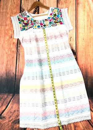 Paloma Embroidered Mexican Dress