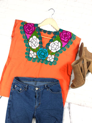 Mexican Embroidered Blouse Zinacantan