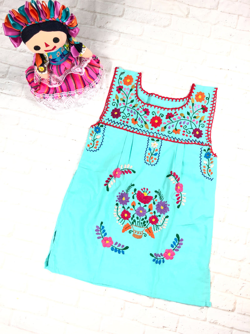 Mexican Girl Dress no sleeves