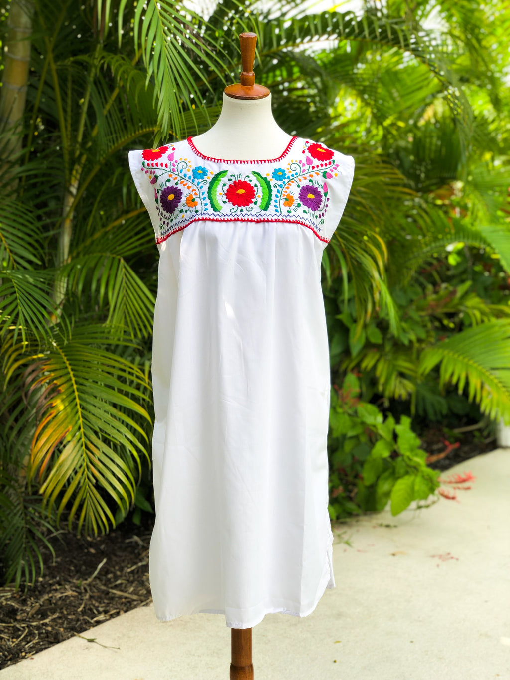 Mexican Dress Channel, No sleeves, Short dress