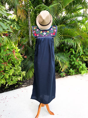 Mexican Dress Channel, No sleeves, Maxi