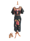 Mexican Dress; Boho Embroidered Dress