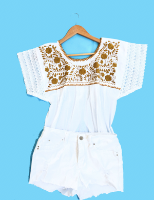 Embroidered Top Margarita