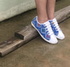 Blue Eco Friendly Embroidered Shoe