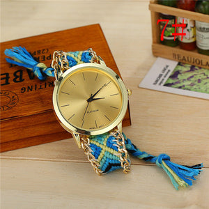 Braided Friendship Bracelet Watches-wholesale