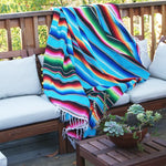 Serape Blanket Stripe Blanket Table Cloth Mats Beach Towel