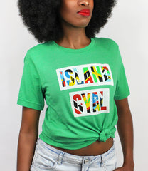Model wearing the Island Gyal T-Shirt