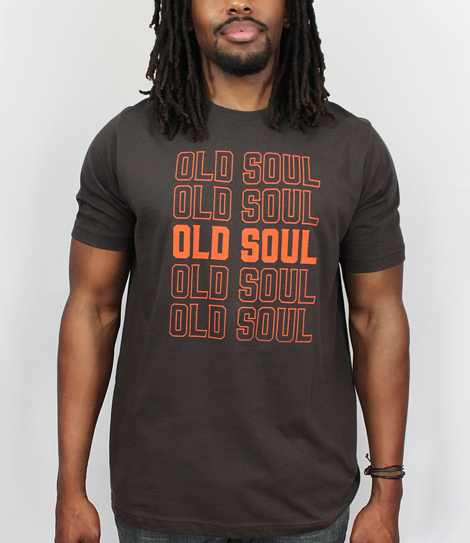 Model wearing Old Soul Men's T-Shirt